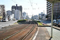 阪堺電軌阪堺線・綾ノ町駅から見た線路の様子。(2017-04-03,共用部,ENVIRONMENT,1F)