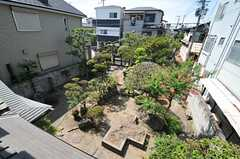 窓から眺めた庭の様子。(202号室)(2013-08-22,専有部,ROOM,2F)