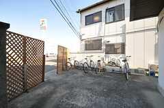 自転車置き場の様子。(2014-01-28,共用部,GARAGE,1F)
