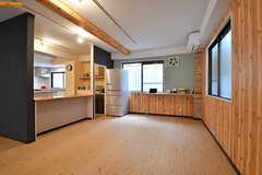 リビングの様子6。左手にキッチンがあります。(2017-03-06,共用部,LIVINGROOM,1F)