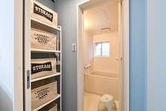 脱衣室の様子。(2017-01-18,共用部,BATH,1F)