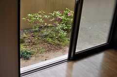窓から庭に出られます。(101号室)(2014-05-16,専有部,ROOM,1F)