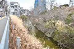 近くには小さな川が流れています。(2017-03-07,共用部,ENVIRONMENT,1F)