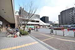 各線・山田駅前のロータリー。(2017-03-07,共用部,ENVIRONMENT,1F)
