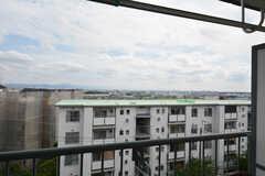 ベランダからの景色。遠くにあべのハルカスも見えます。(501号室)(2015-09-02,専有部,ROOM,5F)