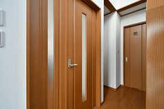 リビングへ続くドア。(2017-02-07,共用部,OTHER,1F)