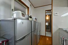 冷蔵庫の様子。(2017-02-07,共用部,KITCHEN,1F)