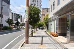 大阪モノレール線・少路駅前の様子。(2017-07-20,共用部,ENVIRONMENT,1F)