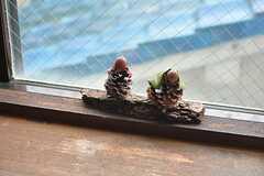 踊場に飾られた松ぼっくり。(2015-03-18,共用部,OTHER,2F)
