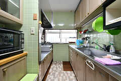 キッチンの様子3。(2017-10-12,共用部,KITCHEN,1F)