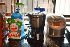 キッチン家電の様子2。かき氷機は手動です。(2014-10-16,共用部,KITCHEN,1F)