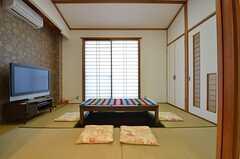 和室の様子。掘りごたつがあります。(2014-10-16,共用部,LIVINGROOM,1F)