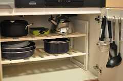 調理器具はひと通り揃っています。(2014-03-20,共用部,KITCHEN,2F)