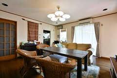 リビングの様子。元々はオーナーさんが暮らしていたスペースです。(2017-07-20,共用部,LIVINGROOM,1F)