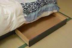 ベッド下収納の様子。(101号室)(2017-07-20,専有部,ROOM,1F)