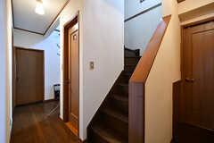 階段の様子。室内からも室外からもアクセス可能です。(2017-07-20,共用部,OTHER,1F)