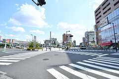 東武スカイツリーライン・朝霞駅前の様子。(2017-07-20,共用部,ENVIRONMENT,1F)