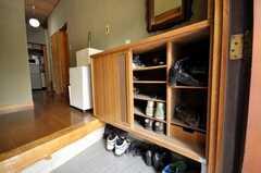 靴箱の様子。(2009-06-17,共用部,OTHER,1F)