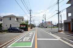 東武東上線ふじみ野駅からシェアハウスへ向かう道の様子2。(2009-06-17,共用部,ENVIRONMENT,1F)