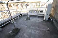 ルーフバルコニーの様子。女性専用フロアにあるので、女性のみ利用できます。(2013-11-06,共用部,OTHER,4F)