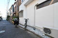 自転車置場の様子。(2020-03-16,共用部,GARAGE,1F)