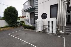 自転車置き場の様子。(2010-06-24,共用部,GARAGE,1F)