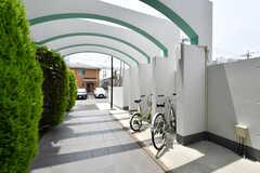 自転車置き場の様子2。(2021-07-07,共用部,GARAGE,1F)