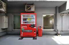ベンチに座ると正面に自動販売機があります。(2012-05-15,共用部,OTHER,3F)