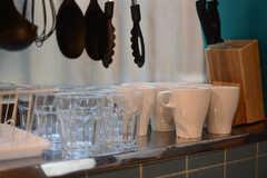 食器棚の様子。(2017-11-07,共用部,KITCHEN,1F)