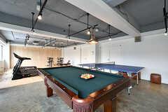 ビリヤード台と卓球台が設置されています。(2017-04-17,共用部,OTHER,2F)