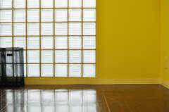 玄関脇のガラスブロックの壁からは、光が入ります。(2013-03-26,周辺環境,ENTRANCE,1F)