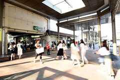 JR武蔵野線・新座駅の様子。(2016-07-11,共用部,ENVIRONMENT,1F)