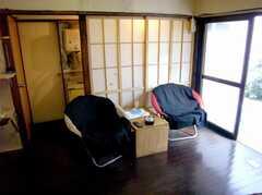 ラウンジの様子3。(B棟・1F)(2007-03-22,共用部,LIVINGROOM,1F)