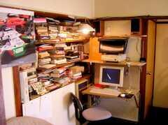 ラウンジの様子。に設置された共用PC(B棟・1F)(2007-03-22,共用部,PC,1F)