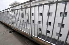 ベランダの様子。B棟の廊下側に面しています。(A314号室)(2012-05-30,専有部,ROOM,3F)