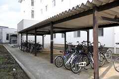 駐輪場の様子。(2012-05-30,共用部,GARAGE,1F)