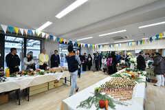 内覧イベント時の多目的スペースの様子。ピアノが設置されています。(2020-02-02,共用部,PARTY,1F)