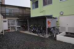 自転車置き場の様子。(2015-01-22,共用部,GARAGE,1F)