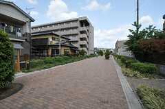 シェアハウス周辺の様子2。遊歩道があります。(2013-04-18,共用部,ENVIRONMENT,1F)