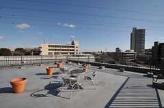 屋上の様子。周辺には高い建物が少ないので開放的です。(2012-01-07,共用部,OTHER,4F)