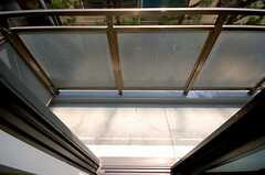 ベランダの様子。(102号室)(2008-04-03,専有部,ROOM,1F)