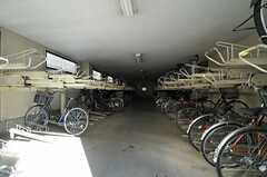 マンション共用の自転車置場の様子。(2014-03-11,共用部,GARAGE,1F)