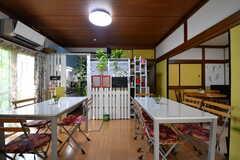ダイニングを兼ねたカフェスペースの様子6。(2019-09-11,共用部,LIVINGROOM,1F)