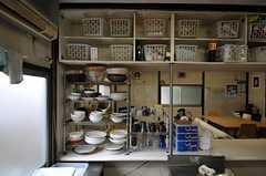 食器棚の様子。(2014-03-20,共用部,KITCHEN,1F)