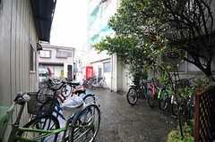 自転車置場の様子。(2014-03-20,共用部,GARAGE,1F)