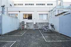 駐輪スペースの様子。(2015-01-08,共用部,GARAGE,1F)