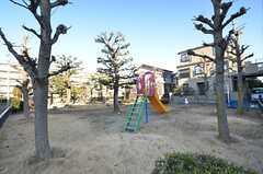 シェアハウスの目の前は公園です。(2015-01-08,共用部,ENVIRONMENT,1F)