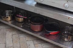 鍋類も各種揃っています。(2018-04-13,共用部,KITCHEN,1F)