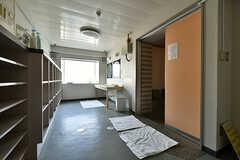 男性用脱衣室の様子。(2018-04-13,共用部,BATH,1F)