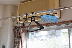 洗濯物がたっぷり干せます。(333号室)(2018-04-13,専有部,ROOM,3F)